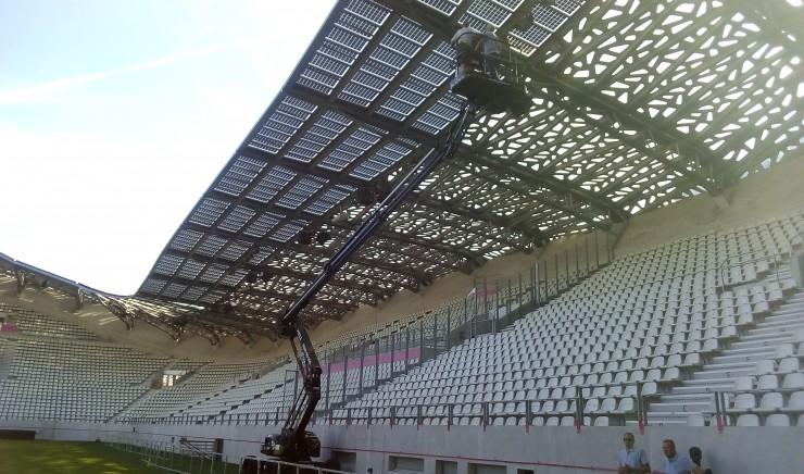 Zonnepanelen in het Jean-Bouinstadion