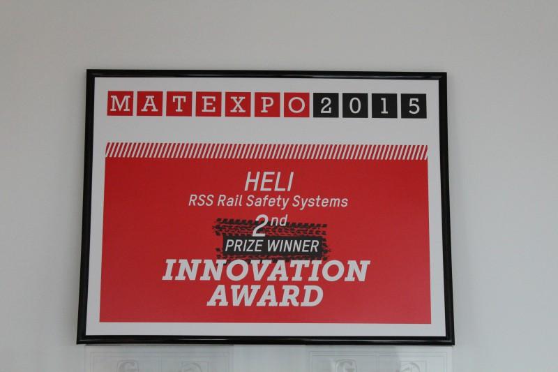 Rail Safety Systems - 2e plaats - Matexpo Innovation Award